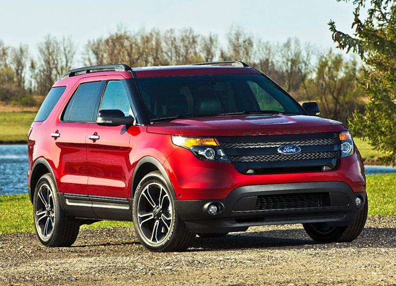 red 2014 ford explorer sport black wheels