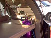 Nitrous Bottle in Ford Explorer